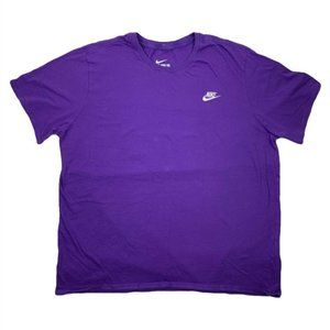 Nike Purple/White Embroidered Logo Spellout Tee